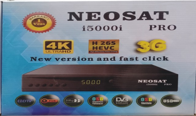 NEOSAT i5000i PRO 1506LV HD RECEIVER NEW SOFTWARE