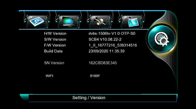 Neosat NS 1506HD 1506tv Built in wifi new software SCB4 V10.08.22