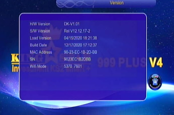 KINGSTAR 999 PLUS V4 1507G 1G 8M NEW SOFTWARE 4