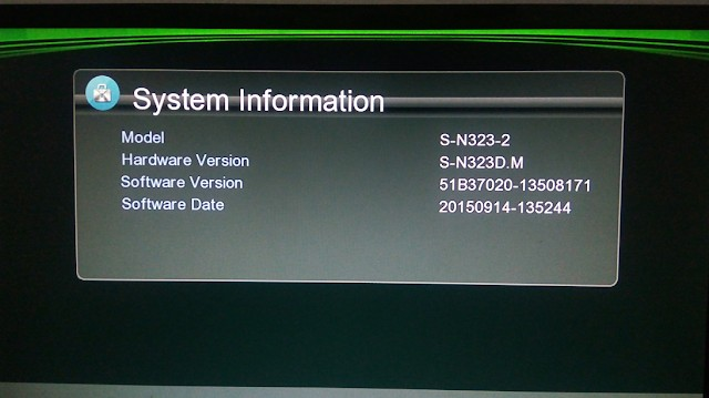 S-N323D.M HD RECEIVER SOFTWARE