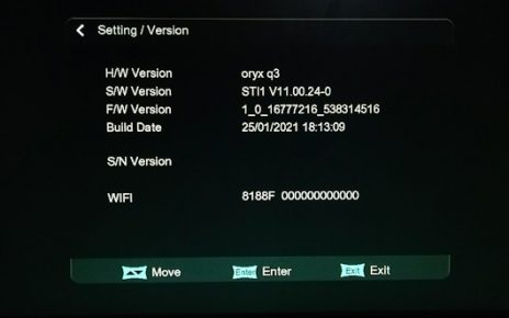ORYX Q3 1506TV 512 4M BUILT IN WIFI NEW SOFTWARE