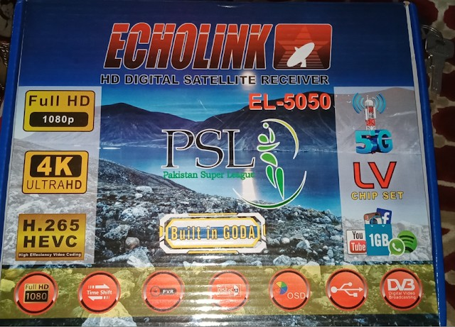 ECHOLINK EL-5050 NEOSAT N-7000D 1506LV 1G 8M NEW SOFTWARE
