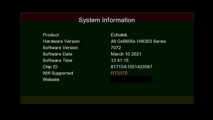 Gx6605s HW203 New Software
